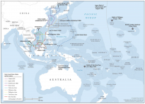 Map: Oceania in its broader geostrategic setting