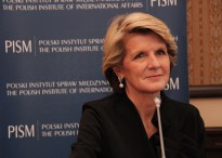 Julie Bishop visits the Australian Embassy in Warsaw last year