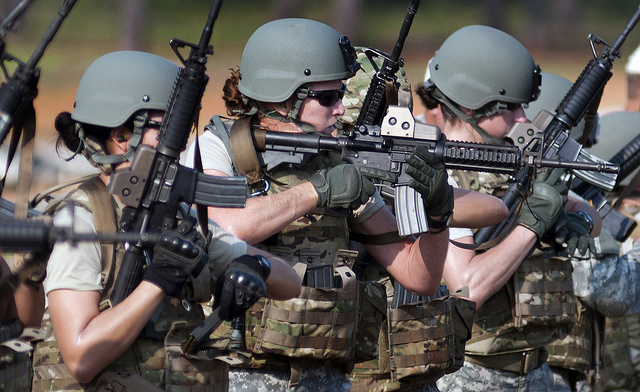 U.S. Army Soldiers conduct marksmanship training during cultural support training.The U.S. Army Special Operations Command's cultural support program prepares all-female Soldier teams to serve as enablers supporting Army special operations- combat forces in and around secured objective areas. The Cultural Support Assessment and Selection program is conducted by the U.S Army John F. Kennedy Special Warfare Center and School at Fort Bragg, N.C. and is five days of physical, mental and intellectual evaluations designed to determine a candidate's ability to maintain her composure, apply logic, communicate clearly and solve problems in demanding environments.