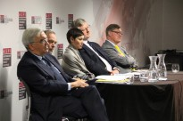 The panel at ASPI's event