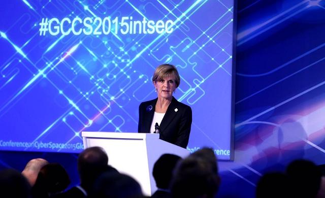 Foreign Minister Julie Bishop at GCCS
