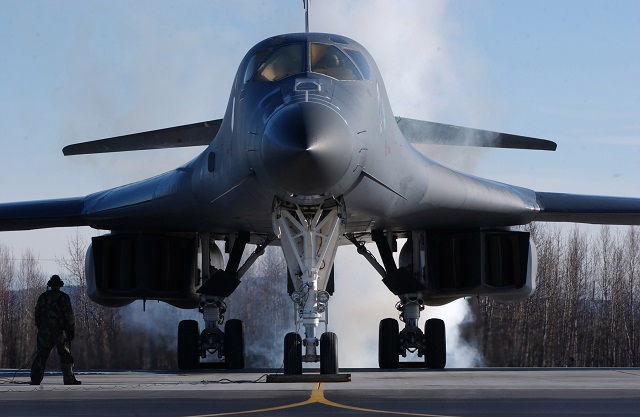 A U.S. Air Force B-1B Lancer aircraft