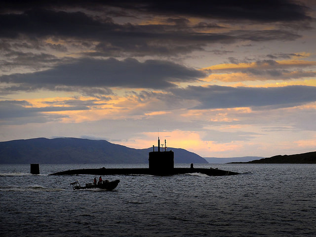 HMS TRIUMPH arriving at HMNB CLYDE, Faslane, Scotland