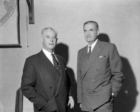 With Mr Keith Holyoake (NZ PM) and Robert Menzies, ANZUS meeting 13 May 1962