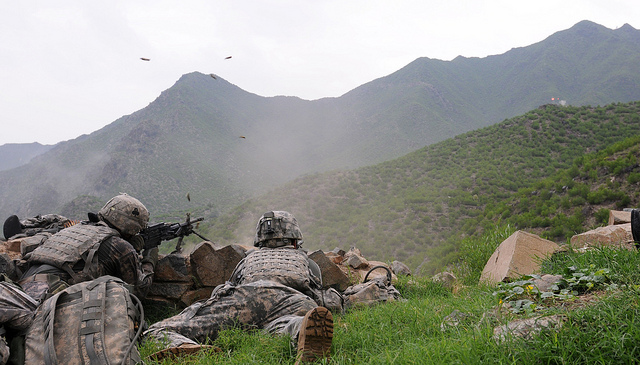 Unit fights off insurgent attack in eastern Afghanistan.
