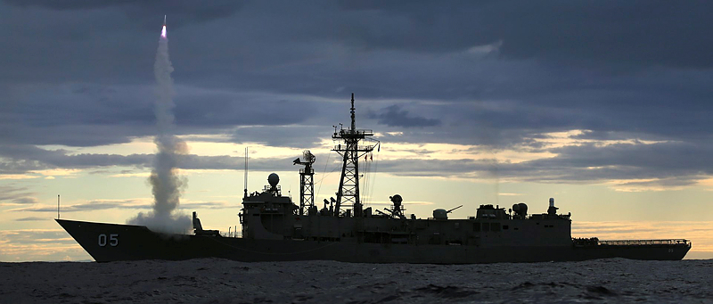 Headline HMAS Melbourne Missile Firing