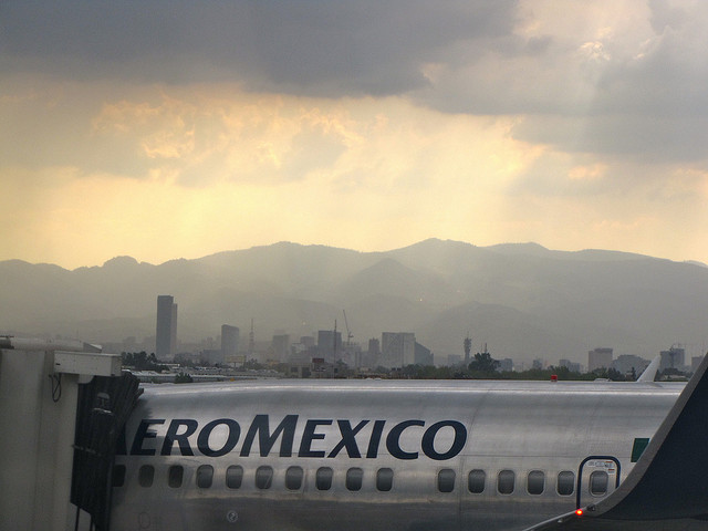 Mexico City from the airport