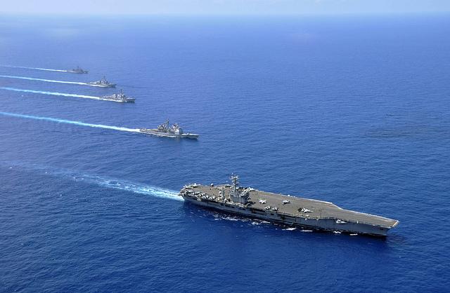 USS Nimitz, USS Chosin, USS Sampson, and USS Pinkney in South China Sea.