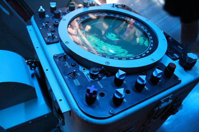 USS Missouri - Radar Control Panel