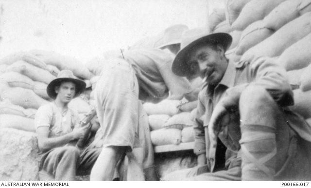 GALLIPOLI, 1915. OBSERVING IN THE TRENCHES.