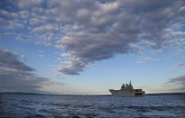 HMAS Canberra docked down in Jervis Bay during work ups in preparation for Unit Readiness Evaluation.