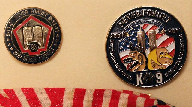 The badge given to K9 honorees