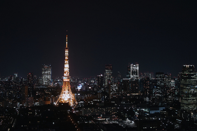 Night View with Tokyo Tower Special Lightup <Invitation for 2020 Olympic Games>