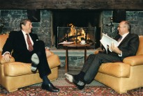 Reagan and Gorbachev at the Geneva Summit in 1985