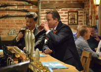 David Cameron and President Xi visit a local pub, The Plough at Cadsden during his visit to Chequers