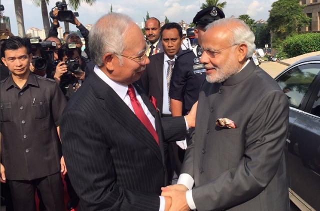 Narendra Modi and Najib Razak
