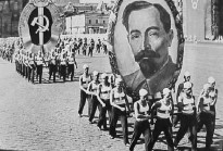 Picture of Dzerzhinsky in a parade in Moscow Red Square in 1936