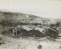 The scene at West Beach, Suvla [Bay, Gallipoli Peninsula, Turkey] two days before the evacuation.