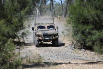 Hawkei undergoing off road testing.