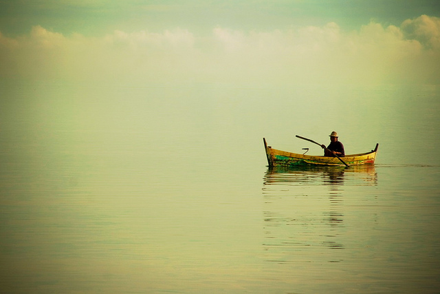 Indonesian fisherman.
