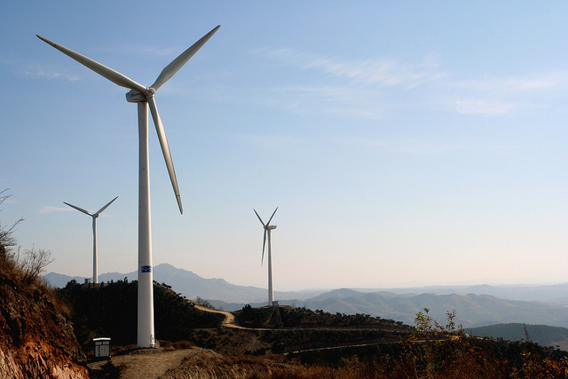 China is short of energy resources, especially oil and gas, but is the world's largest coal producer accounting for 38% of world coal production in 2006. The Tangshanpeng project provides a working model of wind power generation in a popular tourist location, and contributes to the promotion of the Chinese renewable energy industry.
