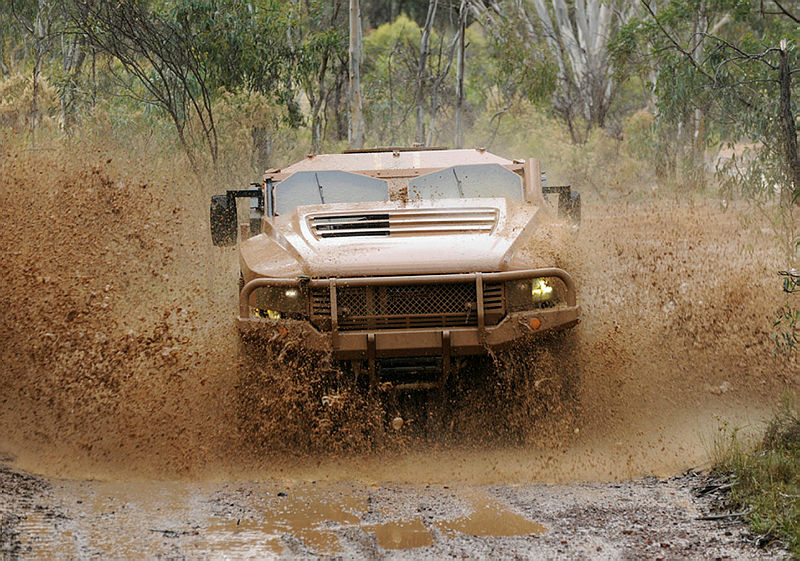 Thales Hawkei Stage 1 Prototype undergoing user assessments at Puckapunyal in May 2011.