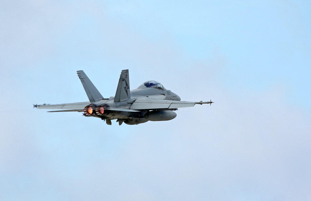 A No 6 Squadron F/A-18F Super Hornet takes off during Exercise Cope North Guam 2016. *** Local Caption *** Exercise Cope North Guam 2016 (CNG16) is a Commander Pacific Air Forces sponsored multilateral field training exercise with the United States Air Force (USAF), Japan Air Self-Defense Force (JASDF), and the Royal Australian Air Force (RAAF) during the period 10 to 26 February 2016. Conducted from Andersen Air Force Base in Guam, CNG16 involves a large force employment air combat exercise with dissimilar air combat training and a humanitarian assistance and disaster relief (HA/DR) exercise phase. The HA/DR exercise enhances training and coordination for disaster relief efforts, in particular medial support and aeromedical evacuations. CNG16 involves over 2000 personnel and approximately 100 aircraft which are designed to increase the combat readiness and interoperability of the USAF, JASDF and RAAF.