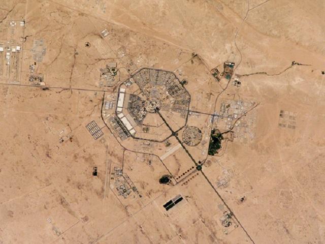 Satellite photo of King Khalid Military City, taken June 30, 2002