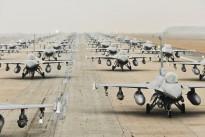 F-16 Fighting Falcons from the 35th and 80th Fighter Squadrons of the 8th Fighter Wing, Kunsan Air Base, Republic of Korea